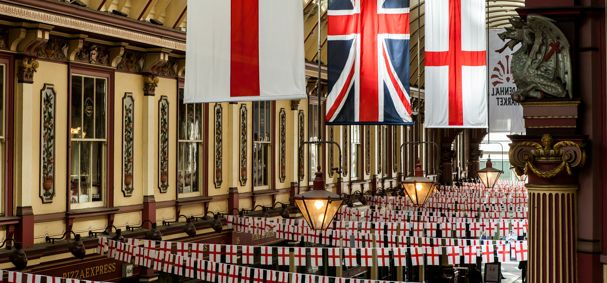 St Georges Bunting at Leadenhall Market